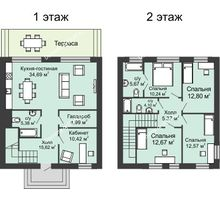 4 комнатная квартира 145 м² в КП Донской, дом коттедж 145 м² - планировка