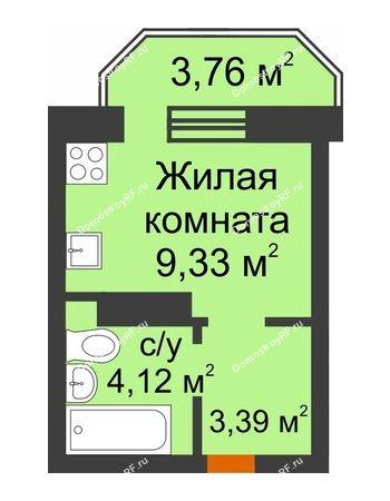 Студия 17,97 м² в ЖК Светлоград, дом Литер 16