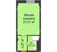 Студия 29,49 м², Апарт-Отель Гордеевка - планировка