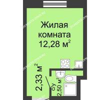 Студия 17,11 м² в ЖК Бурнаковский, дом № 39 - планировка