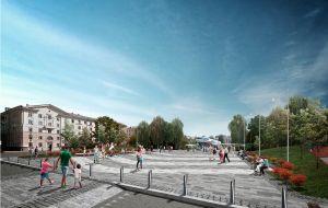 Концепция благоустройства площади Буревестника в Нижнем Новгороде