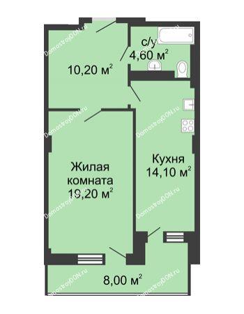 1 комнатная квартира 52,1 м² - ЖК Дом на Береговой
