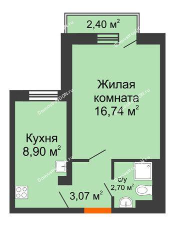 1 комнатная квартира 31,76 м² в ЖК Мечников, дом ул. Таврическая, 4