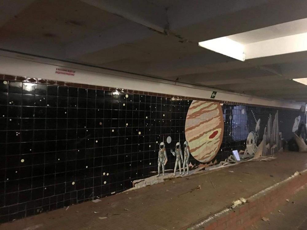 В Ростове снесли ларьки, чтобы открыть еще одну подземную мозаику