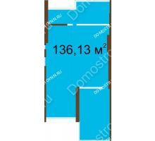 3 комнатная квартира 136,13 м², Жилой дом: ул. Родионова д. 108а - планировка