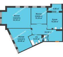 3 комнатная квартира 147,38 м², Дом премиум-класса Коллекция - планировка