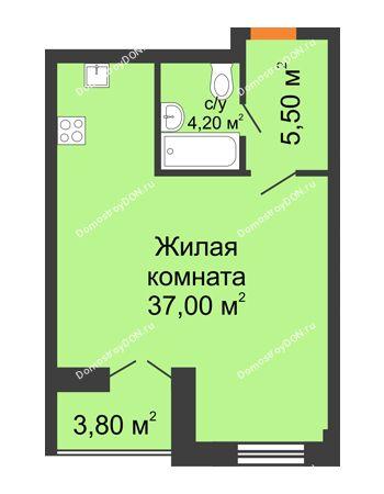 Студия 48,6 м² - ЖК Дом на 18-й Линии, 3