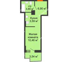 Студия 26,23 м² в ЖК Город у реки, дом Литер 8 - планировка