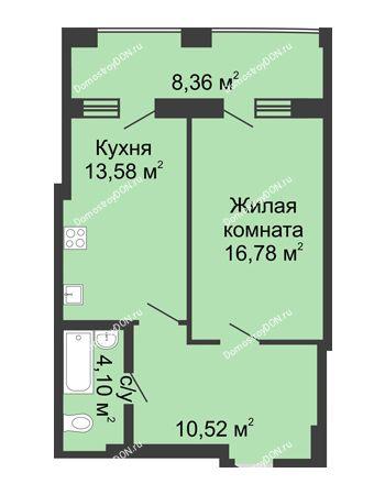 1 комнатная квартира 53,32 м² в ЖК Тихий Дон, дом № 2