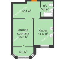 1 комнатная квартира 53,3 м² - ЖК Симфония Нижнего