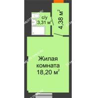 Апартаменты-студия 25,89 м², Апарт-Отель Гордеевка - планировка